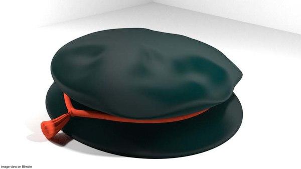 3D bonnet hat tudor model