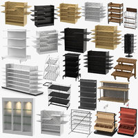 3D display racks retail slat model