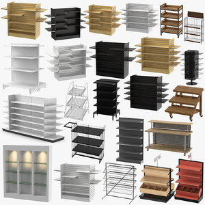 3D display racks retail slat model
