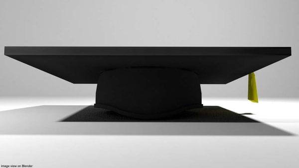 hat mortarboard 3D model