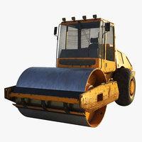 road roller 3D model