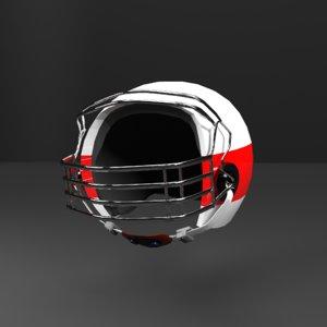 3D sports helmet football model