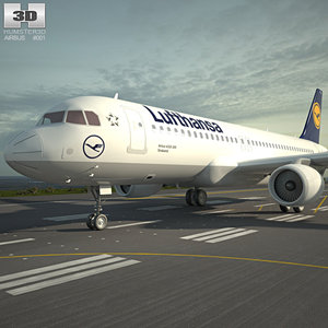 3D airbus a320 320