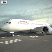 3D boeing 787 dreamliner model
