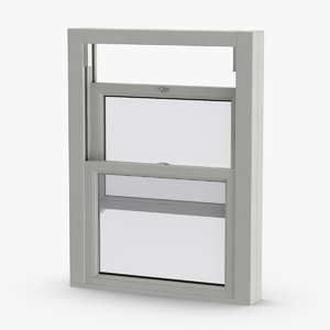 3D model standard-windows---window-2-half-open