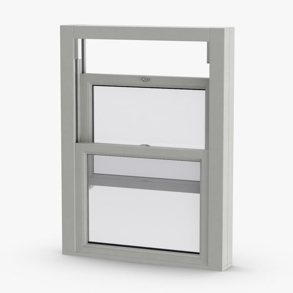 3D model standard-windows---window-2-half-open