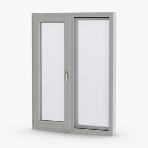 standard windows 1 closed 3D model