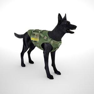 3D belgian malinois black vest