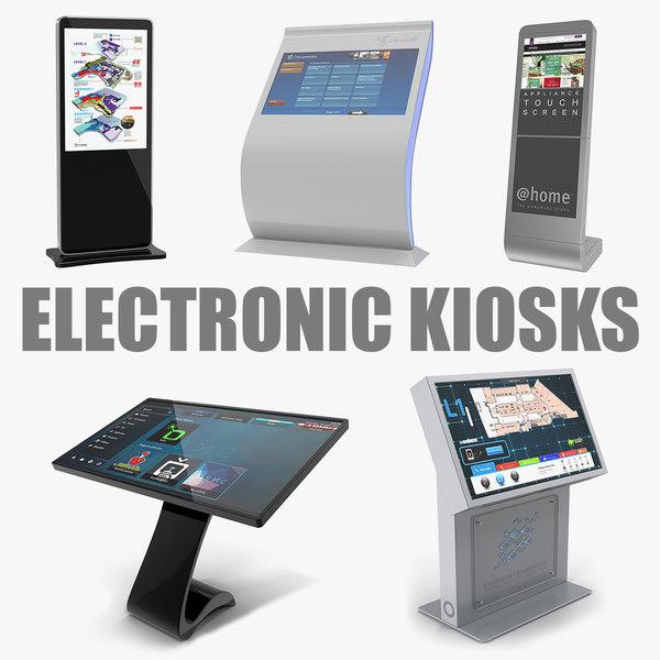 3D electronic kiosks model