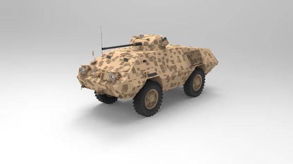 3D mowag ii model