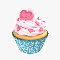 Cupcake Heart Rose