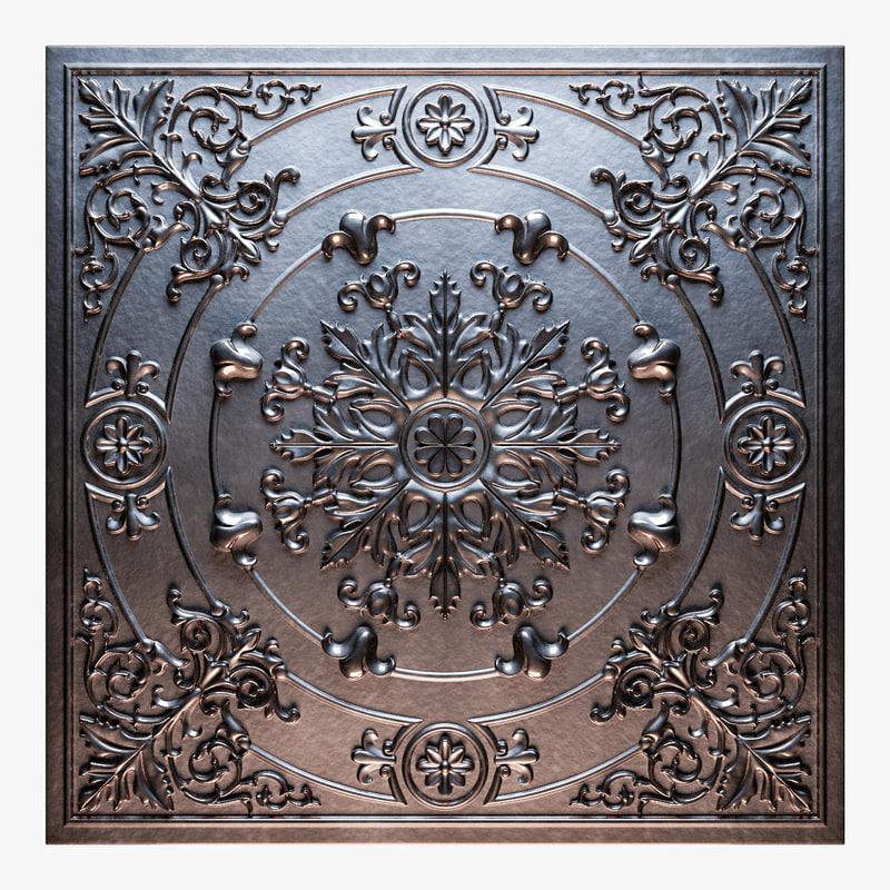old tin tiles 3D model