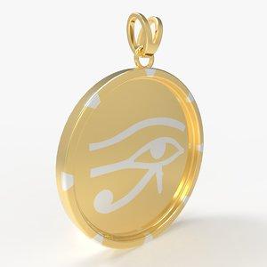 3D men medallion ra