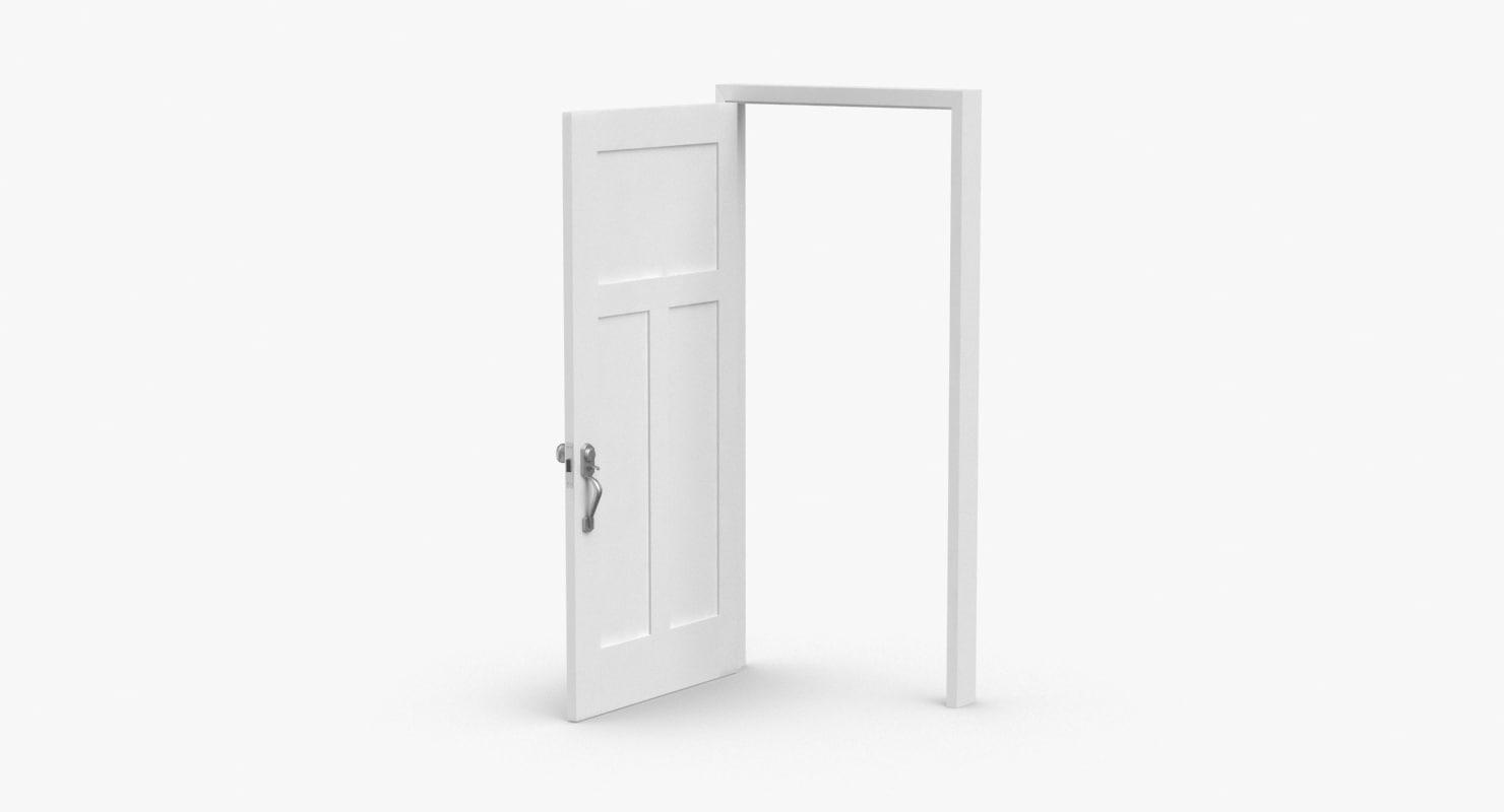 exterior-doors---door-1-open 3D