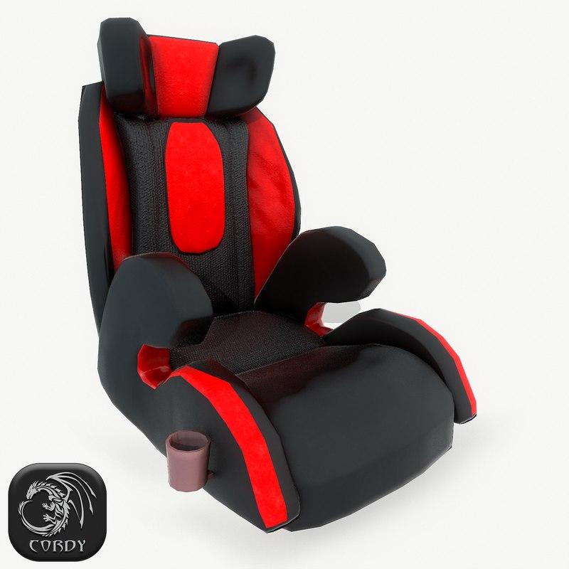 realistic baby car seat model