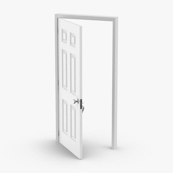 3D exterior-doors---door-5-ajar