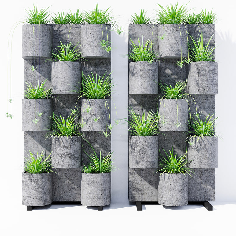 garden vertical stand 3D model