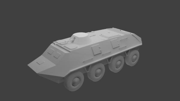 3D btr-60 soviet apcs model