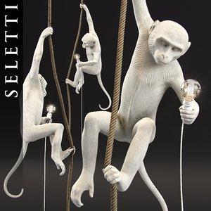 3D monkey lamp