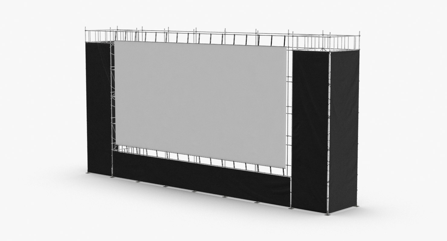 3D large-stage-screen-02 model