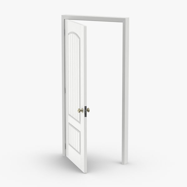 exterior-doors---door-3-ajar 3D model