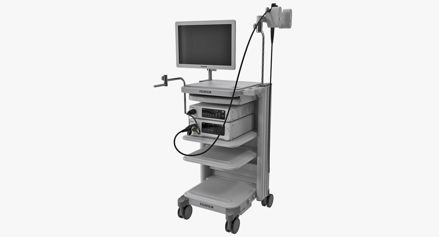 fujifilm electronic video endoscope 3D model