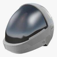 futuristic space helmet 3D