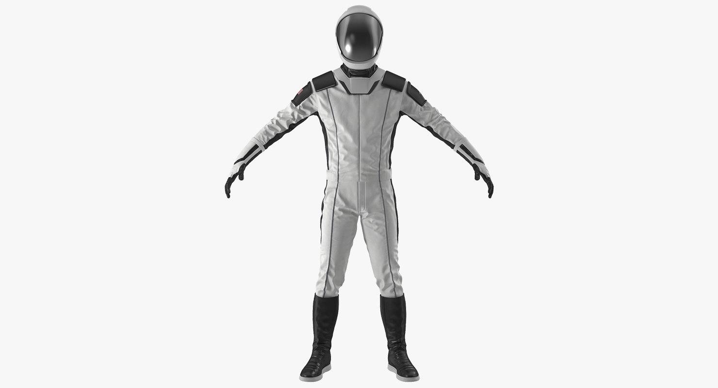 3D futuristic space suit