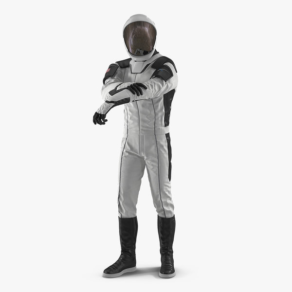 futuristic space suit rigged 3D