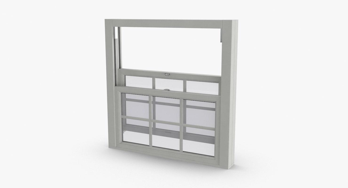 standard-windows---window-3-open 3D model