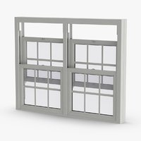 3D model standard-windows---window-5-half-open