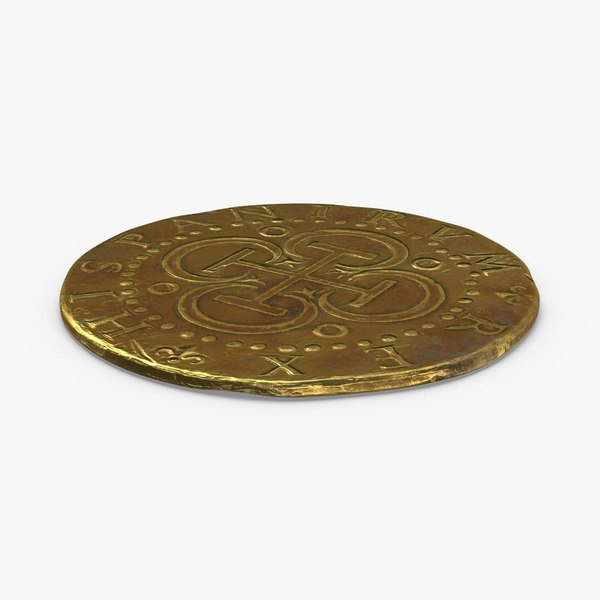 gold-coins-dirty---coin-2-flat 3D model