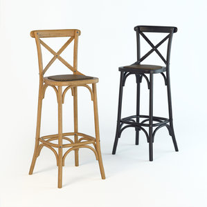 3D bar stool dzhek model
