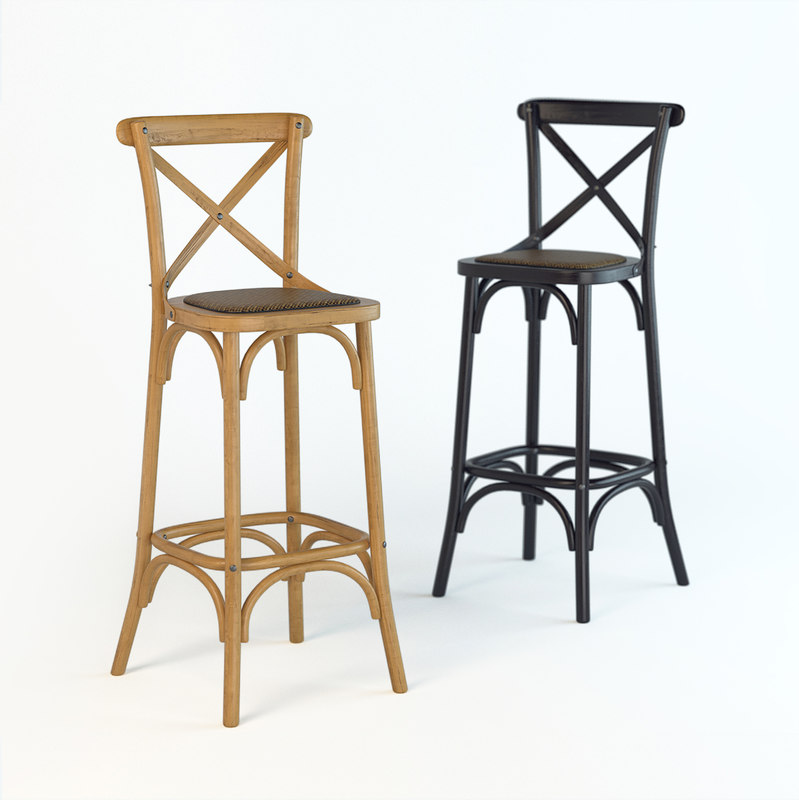 3D bar stool dzhek model
