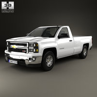 3D model chevrolet silverado regular