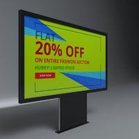 designed advertising billboard 3D model