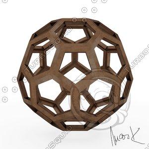 icofaedron leonardo 3D model