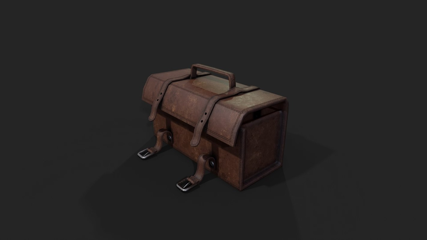 pbr leather toolbox 3D model