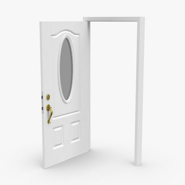 exterior-doors---door-2-open 3D