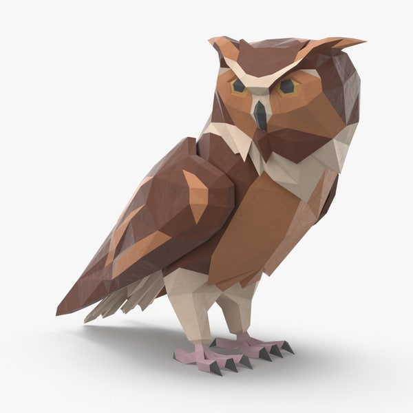 3D owl---perched-turned