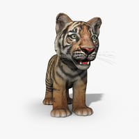 Tiger Baby Low Poly