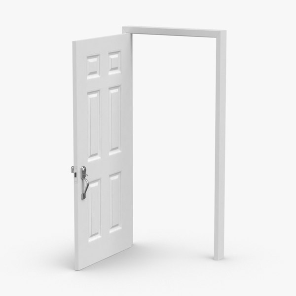 3D model exterior-doors---door-5-open