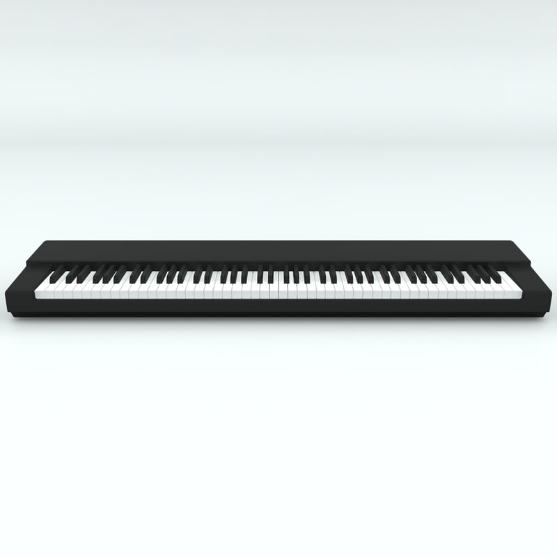piano keyboard base keys 3D model