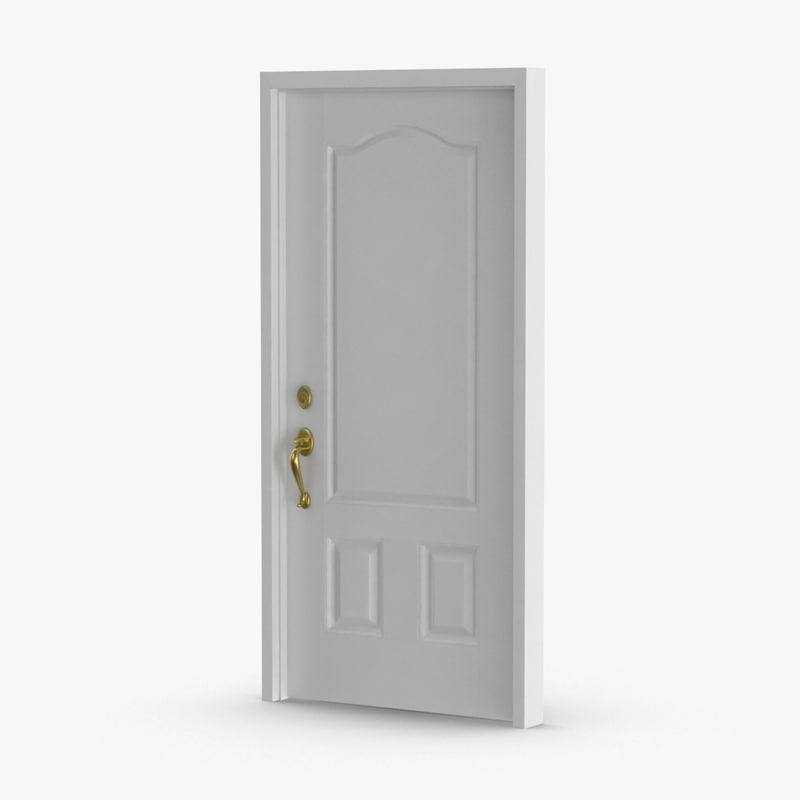 3D exterior-doors---door-6-closed model