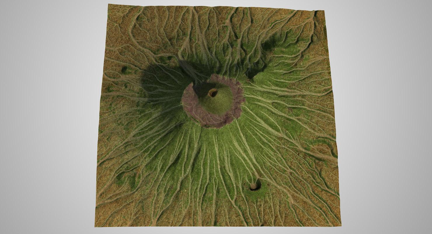 tyatya volcano 3D model