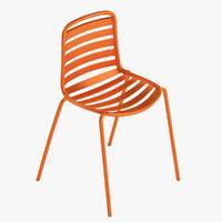 Photorealistic Enea Lts Street Armless Chair By Estudi Manel Molina