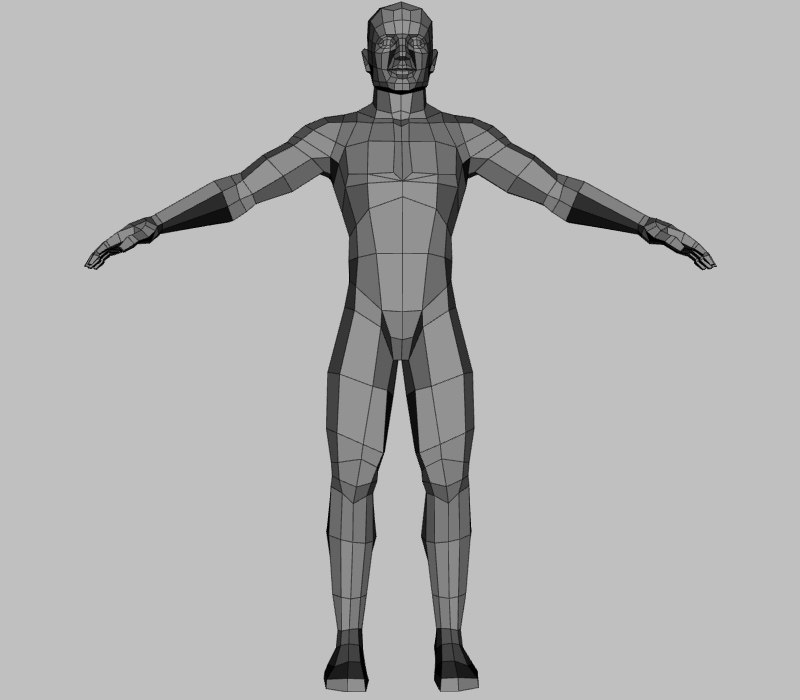 base male rigged model