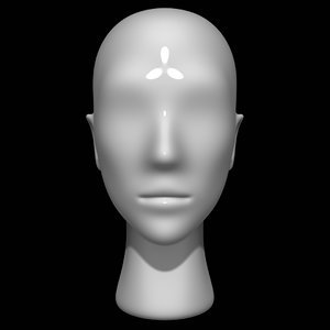 3D model mannequin head