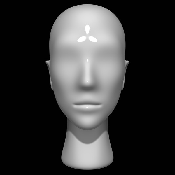 3D model mannequin head