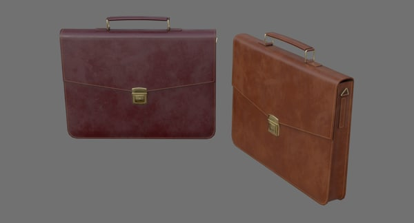 3D briefcase 1b model